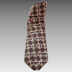 Vintage 1980's Silk Necktie - Vintage Men's Tie - Men's Wear