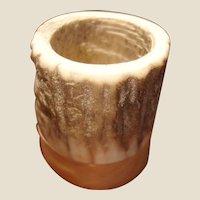Vintage Deer Horn and Oak Wood Matchstick or Toothpick Holder – Match Safe