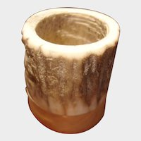 Vintage Deer Horn and Oak Wood Matchstick or Toothpick Holder – Match Safe