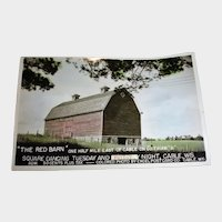 Vintage RED BARN Square Dancing Post Card