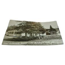 Vintage Post Card of Hotel Lakewoods Resort, Lake Namakagon, Cable, Wis.