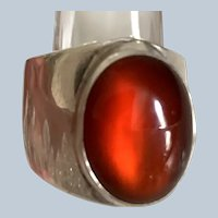 Vintage NAKIA Signed Native American Carnelian Ring - Size 6