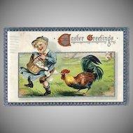 Vintage TUCK'S Easter Holiday Greeting Postcard - Vintage Post Cards
