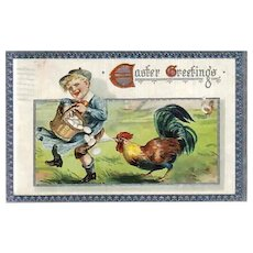 Vintage TUCK'S Easter Holiday Greeting Postcard - Vintage Post Cards