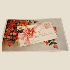 Antique PC - To My Valentine Postcard - 1913