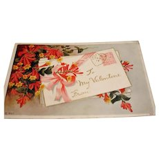 Antique PC - To My Valentine Postcard - 1913
