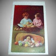 Vintage Easter Holiday Postcard - Children & Chicks