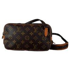 Vintage Louis Vuitton Marley Canvas Monogram Leather Cross Body Bag - Purse - Handbag