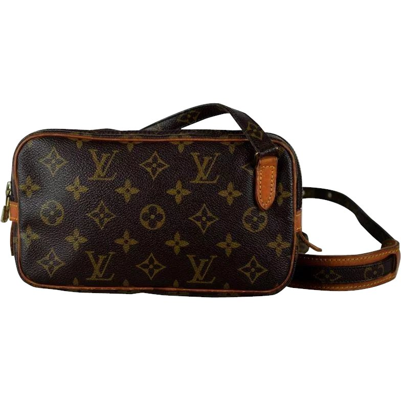 899a31a3c363 Vintage Louis Vuitton Marley Canvas Monogram Leather Cross Body Bag -    Wild Goose Chase Antiques   Collectibles
