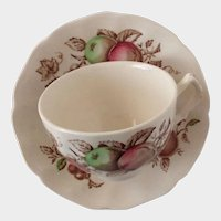 Vintage Johnson Bros. Transferware - Harvest Time Cup & Saucer - Made in England