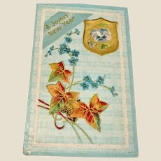 Antique Embossed PC - Joyous New Year UNUSED Postcard