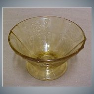 Depression Glass - OLD MADRID  Sherbet Dish or Cup by Federal Glass