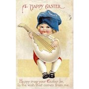 CLAPSADDLE - Easter Holiday Greeting Postcard - Child
