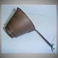 Antique Metal and Tin Strainer with Removable Screen - Farmhouse  Rustic Primitives