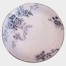 SALE -- Antique Late 1800's - Blue and White China - Alfred Meakin Porcelain Sauce Dish - England Severn China
