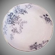Antique Blue and White China Sauce Dish - Alfred Meakin England Severn Porcelain