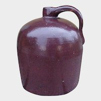 Antique Brown Beehive Stoneware Jug - Rustic Farmhouse Primitives