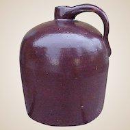 Antique Brown Beehive Stoneware Jug - Rustic Farmhouse Primitives