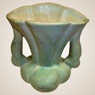 """NILOAK Pottery VASE - Light Green – 6"""" High"""
