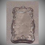 Antique Match Safe Holder Vesta - German Silver