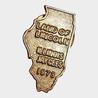 Land Of Lincoln Jaycees Pin 1973  Illinois Jaycees
