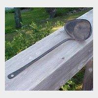 Vintage Iron  Ladle - Strainer - Scoop - Rustic Farmhouse Primitives
