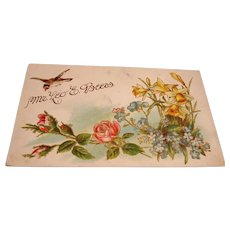 Antique Embossed Postcard - Leo E Beers