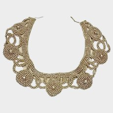 Vintage Mid Century Faux Pearl Collar