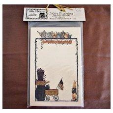 Vintage Deb Strain Notepad - Rabbit - Unused Old Card Stock