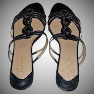 Vintage Claiborne Slip On Low Heel Sandals