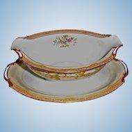 Vintage Noritake China - Olympia Pattern - Gravy Boat