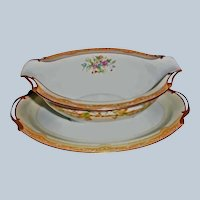 Vintage Noritake China - OLYMPIA Pattern - Attached Gravy Boat