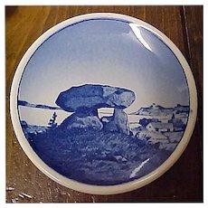 "Vintage Royal Copenhagen MINI Plate - Butter Pat Plate - Kaempehoj Porcelain Plate 3-1/4"""