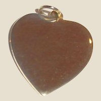 Vintage Gold Tone Heart Charm or Pendant