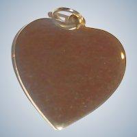 Vintage Gold Tone Heart Charm or Pendant