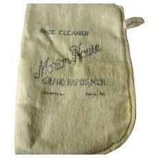 Vintage Shoe Cleaning Advertising - Morton House - Grand Rapids, Michigan