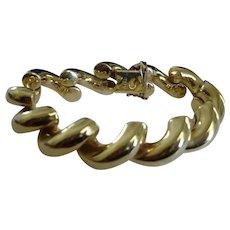 "San Marco 14K Gold Bracelet - 42 Grams - Italy - 7.5"" Long"