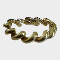 """San Marco 14K Real Solid Gold Bracelet - 42 Grams - Italy - 7.5"""" Long"""