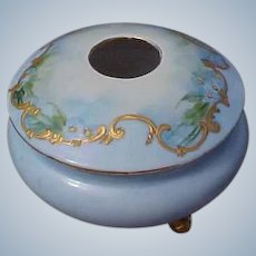Antique Porcelain China Footed Hair Receiver