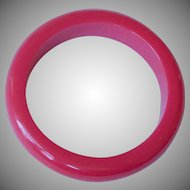 Vintage Hot PINK Lucite Plastic Bangle Bracelet