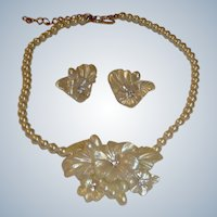 Vintage Demi Parure  - Necklace and Earrings Set