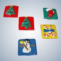 Vintage Christmas / Holiday Fun Button Covers / Free Shipping USA