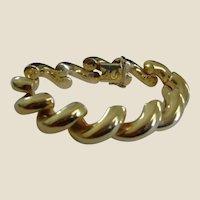 "Vintage 42 Grams San Marco 14K Gold Bracelet - Italy - 7.5"" Long"