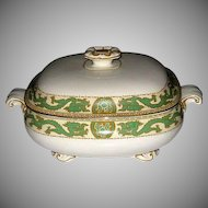 Booths China Tureen with Green Dragon Trim