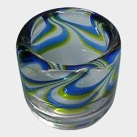 SALE -- Vintage KOSTA BODA Art Glass Vessel / Small Vase - Designer Goran Warff