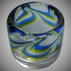Vintage KOSTA BODA Art Glass Vessel / Small Vase - Designer Goran Warff