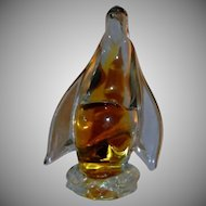 Vintage  Art Glass Penguin Figurine - From Alaska