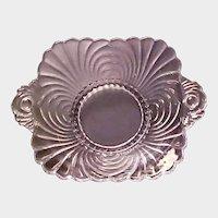Vintage CAPRICE Pattern Dish with Handles - Elegant Cambridge Glass - Ca 1940's.