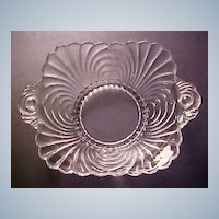 Elegant Cambridge Glass - Vintage CAPRICE Pattern Dish with Handles