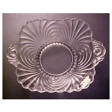 SALE ... Elegant Cambridge Glass - Vintage CAPRICE Pattern Dish with Handles
